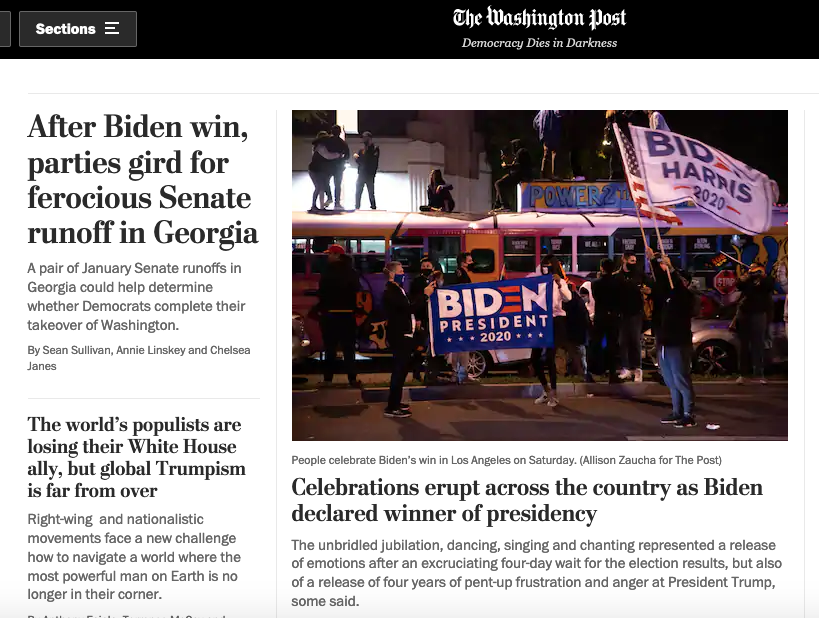 Washington Post Headline